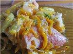 Морской окунь тушеный с овощами в мультиварке