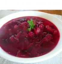 Борщ рубиново-красный