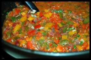 Аджапсандали, грузинское овощное блюдо