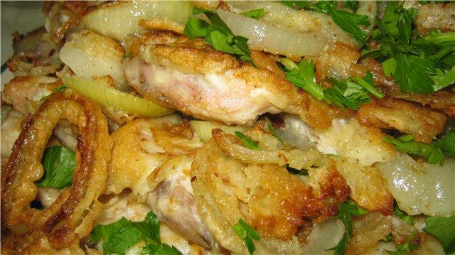 Конгрио (креветочная рыба) в кляре