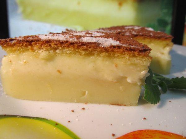 Бисквитное пирожное с заварным кремом (магическое пирожное)