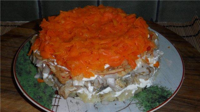 Селедка под грибной