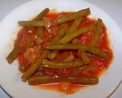 Горячее блюдо из зеленой стручковой фасоли