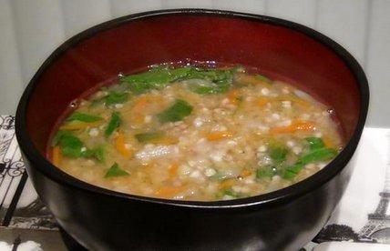 Суп из гречневой сечки (без масла)