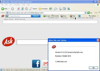 Как удалить Ask Toolbar (поиск search.ask.com)